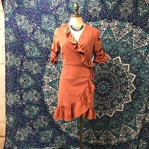 Storia wrap around dress size S